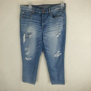 AEO Boy Crop Destroyed Button Fly 100% Cotton Jean